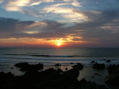 North Cornwall coast, gorgeous sunset